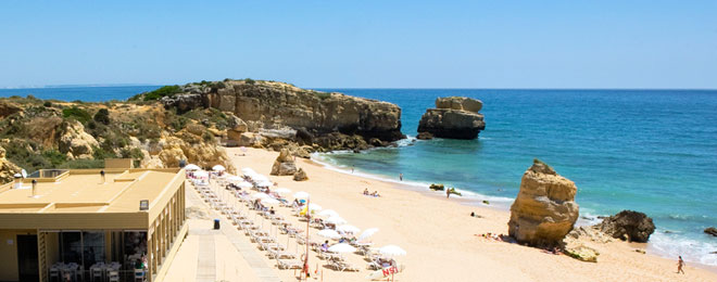 Strand beim Golfreisen Portugal Algarve - Sunbirdie