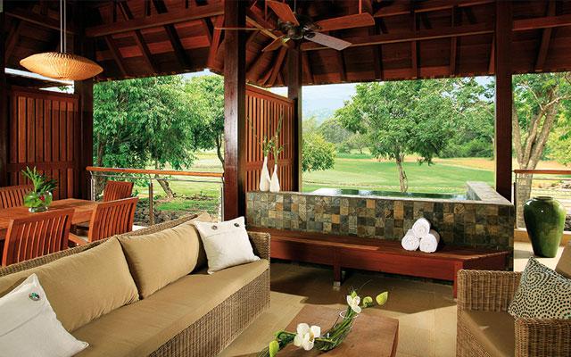 Blick auf den Golfplatz  während golfreisen zu Mauritius | Sunbirdie
