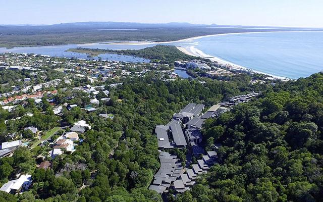 Peppers Noosa Resort villas von oben während Long stay Australien | Sunbirdie