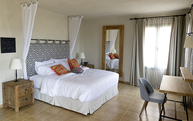 Kreta Village Heights Schlafzimmer während Longstay Griechenland | Sunbirdie