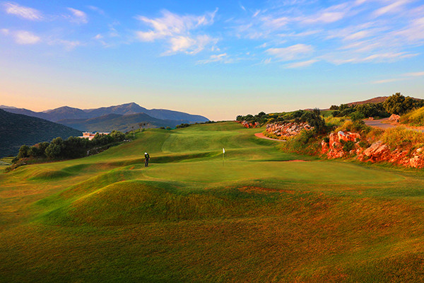 Golfplatz während des Long stay in Kreta | Sunbirdie