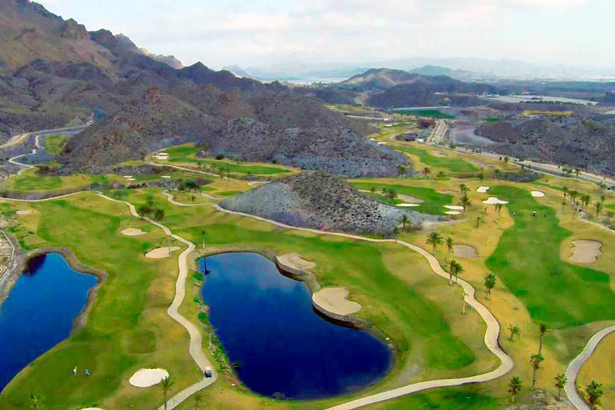 Luftaufnahme von Costa Almeria Golfplatz während long stay golf Spanien | Sunbirdie
