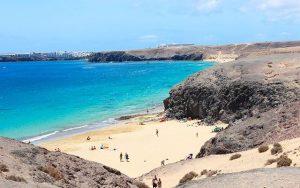 Golfreisen Spanien, Lanzarote am Strand
